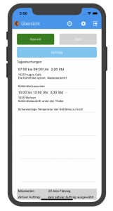Kplus mobil Tagesübersicht iOS
