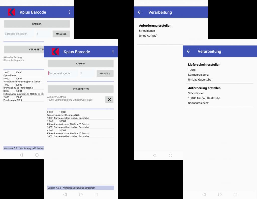 Kplus Barcode App Belegerfassung Belegverarbeitung