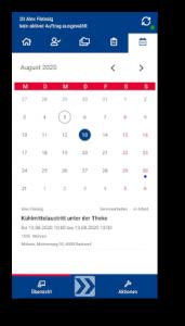 Kplus mobil Kalender