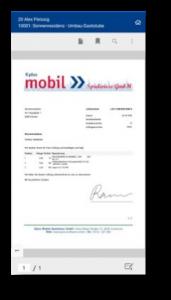 Kplus mobil Lieferschein
